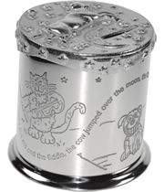 "Cow Jumps Over the Moon Nursery Rhyme Money Box 10cm (4"")"