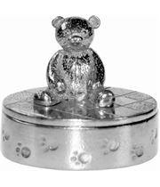 "Cast Oval Teddy Bear Trinket Box 12cm (4.75"")"