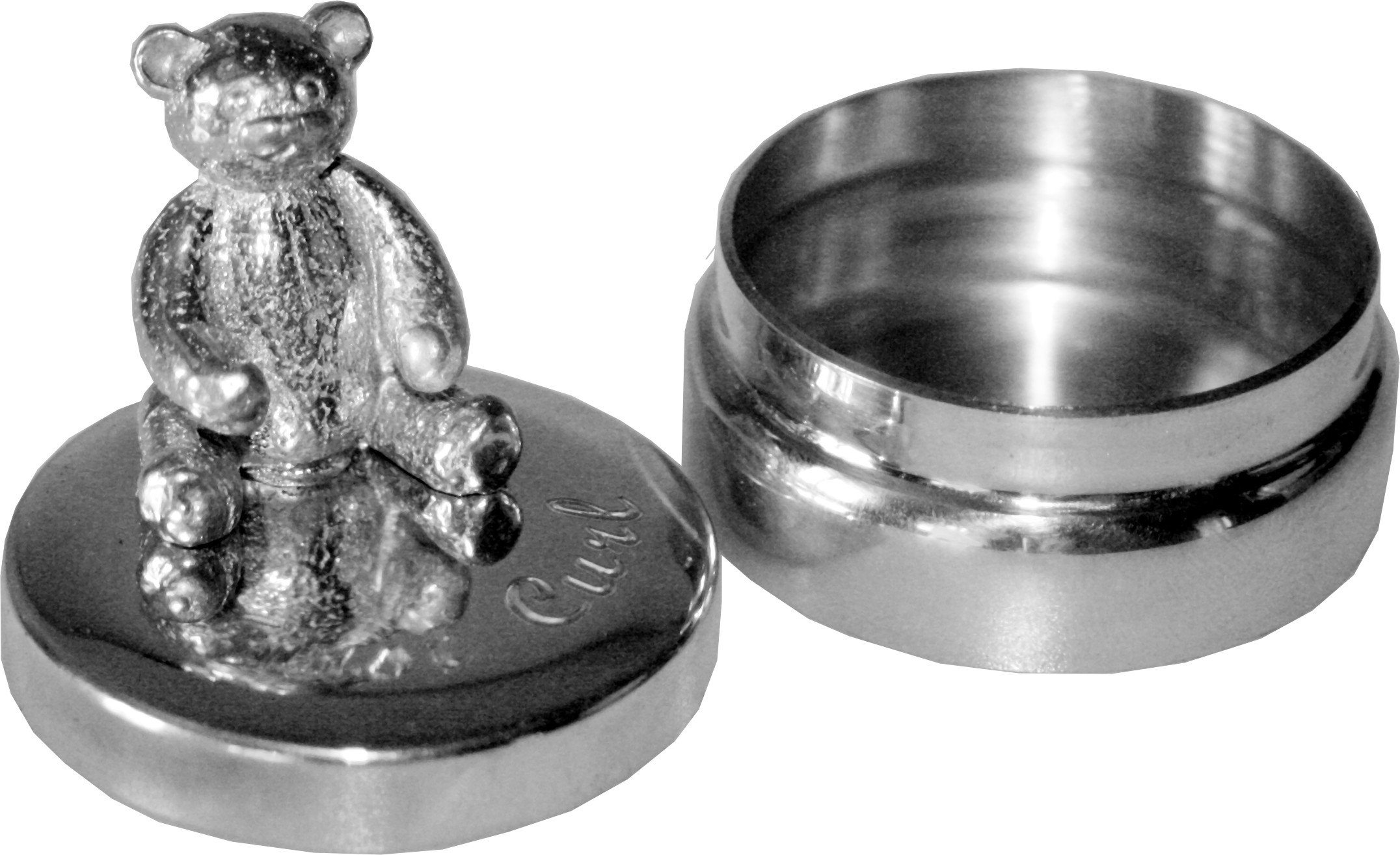 """First Curl Box with 3D Teddy 4.5cm (1.75"""")"""