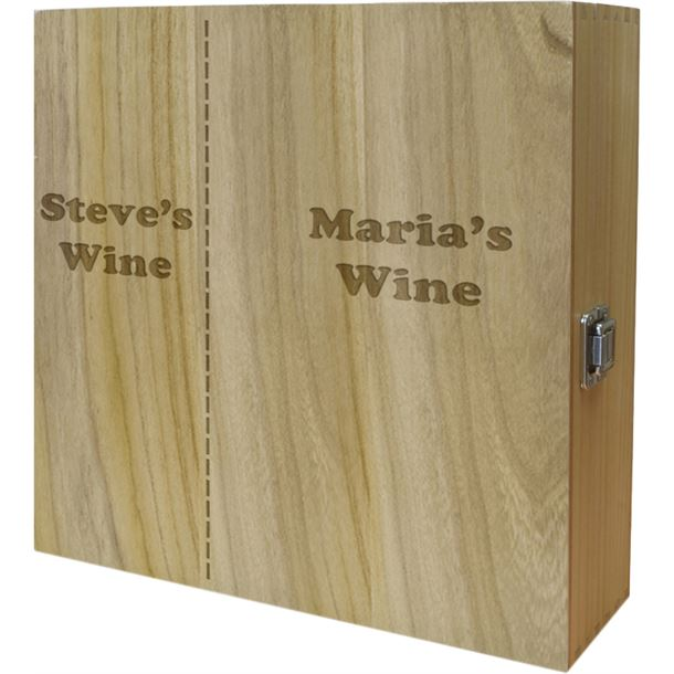 """His & Mostly Hers Triple Wine Box 35cm (13.75"""")"""