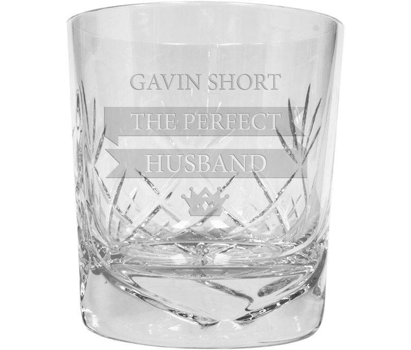 2b38f512b7f The Perfect Husband Personalised Crystal Whisky Tumbler 9.5cm (3.5