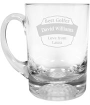 "Best Golfer Golf Ball Base Glass Tankard 1pt 13.5cm (5.25"")"