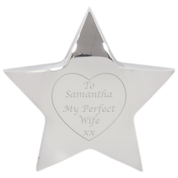 """My Perfect Wife Silver Star Paperweight 9.5cm (3.75"""")"""