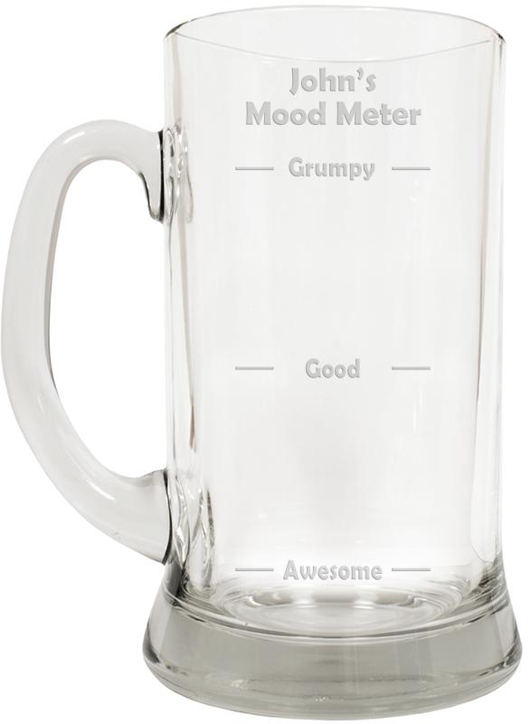 """Mood Meter Novelty Large 2pt Glass Tankard 19.5cm (7.5"""")"""