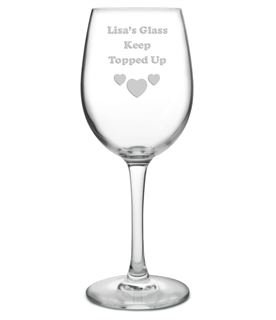 "My Glass Keep Topped Up Personalised Wine Glass 20.5cm (8"")"
