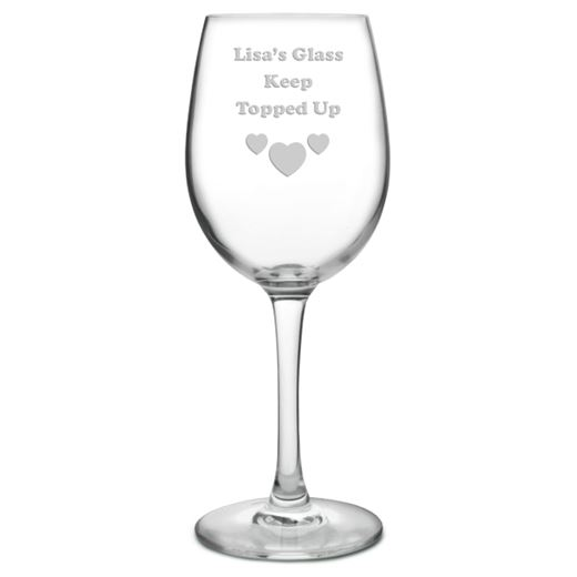 My Glass Keep Topped Up Personalised Wine Glass