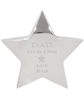 """You're A Star Silver Star Paperweight - For Him 10cm (4"""")"""