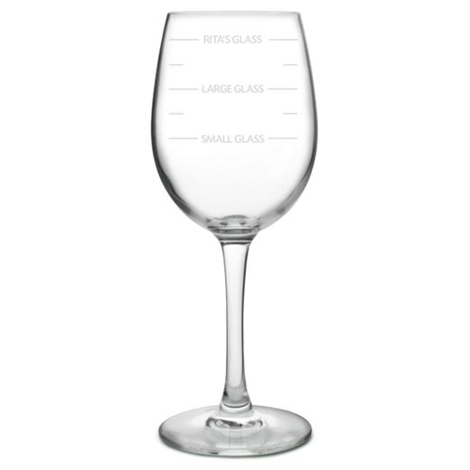 Personalised Wine Glass - Large Measures