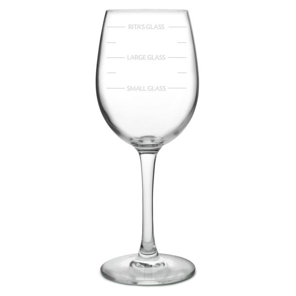 """Personalised Wine Glass - Large Measures 20.5cm (8"""")"""