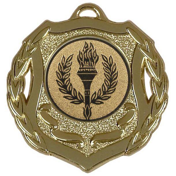 "Gold Multi Sport Shield Medal 50mm (2"")"