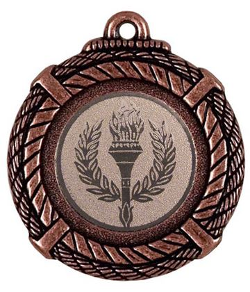 "Bronze Rope Medal with Centre Disc 50mm (2"")"