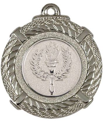 "Silver Rope Medal with Centre Disc 50mm (2"")"