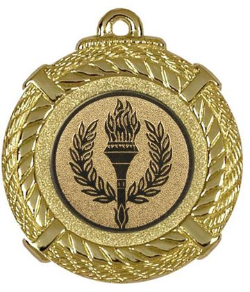"Gold Rope Medal with Centre Disc 50mm (2"")"
