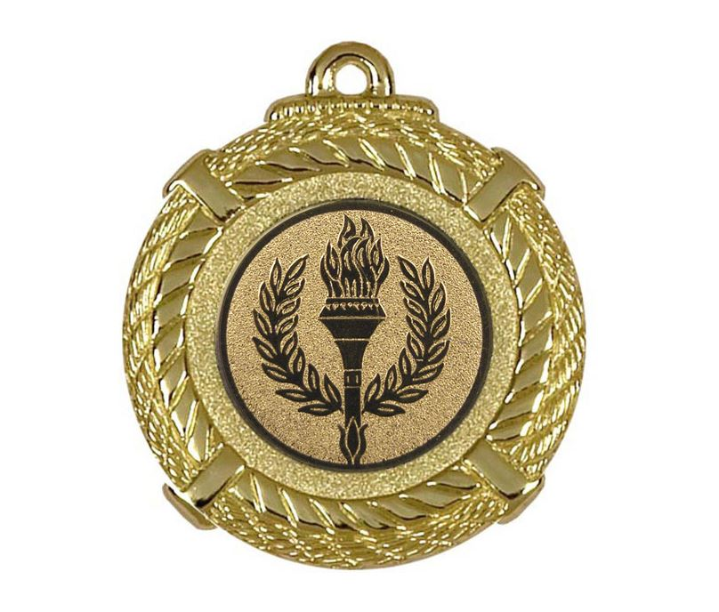 """Gold Rope Medal with Centre Disc 50mm (2"""")"""