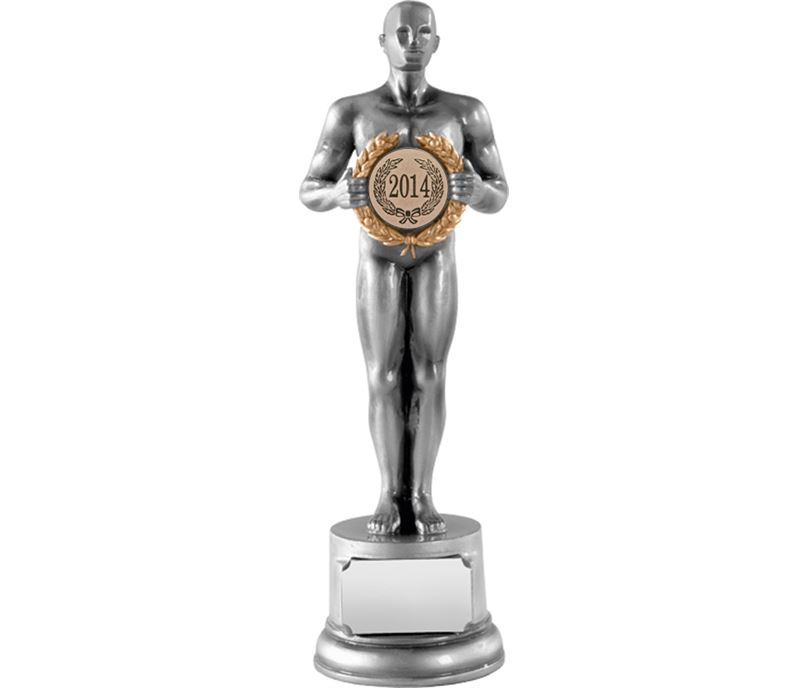 "Silver Resin Achievement Statue Award with Laurel Wreath 21cm (8.25"")"