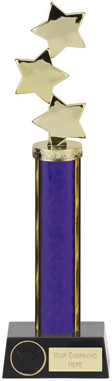 "Hope Star Purple Plastic Column Award 33.5cm (13.25"")"