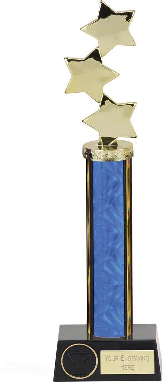 """Hope Star Blue Plastic Column Award 33.5cm (13.25"""")"""
