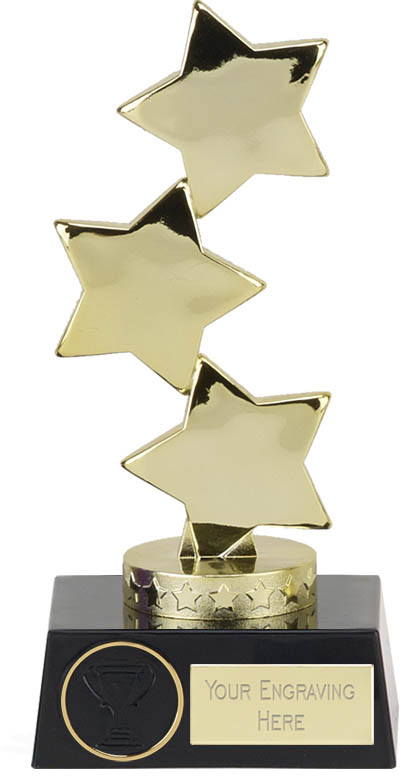STAR ACHIEVEMENT TROPHY CASCADE TROPHY ENGRAVED FREE SMALL AWARD TROPHIES