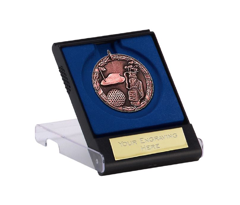 """Bronze Laurel Wreath Golf Medal with Medal Case 50mm (2"""")"""