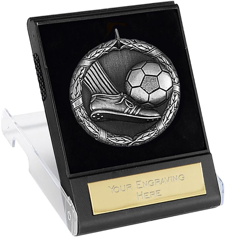"Laurel Football Silver Medal with Presentation Case 50mm (2"")"