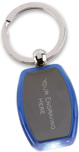 "Colourful Light Up Keyring 4.5cm (1.75"")"