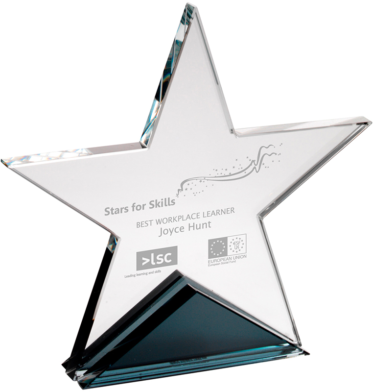 "Optical Crystal Star Plaque 19cm (7.5"")"