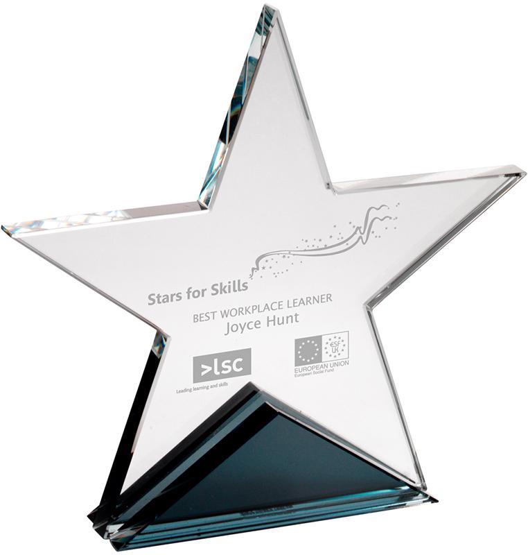 "Optical Crystal Star Plaque 19cm (7.5"")"