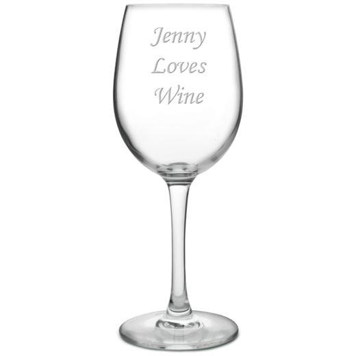 I Love Wine Large Personalised Wine Glass