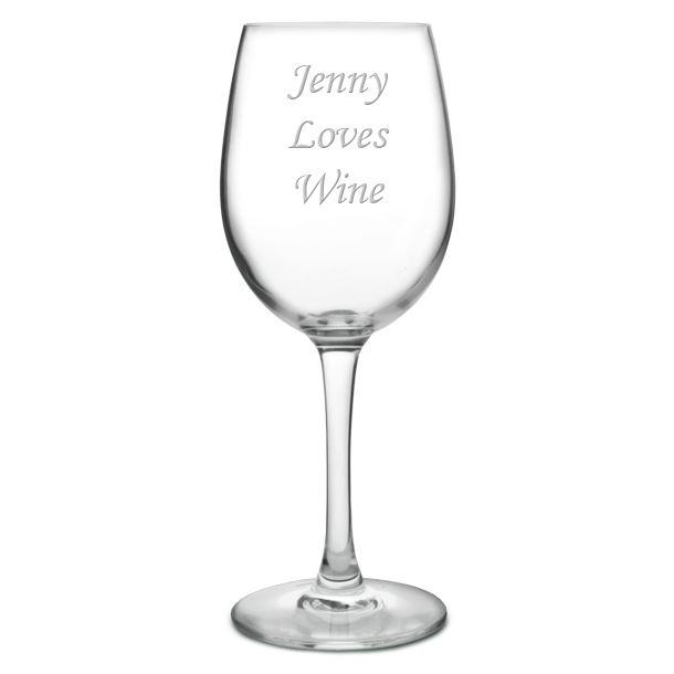 "I Love Wine Large Personalised Wine Glass 20.5cm (8"")"