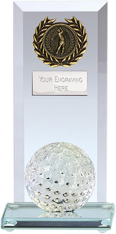 """Core Golf Jade Glass Plaque Award 16cm (6.25"""")"""