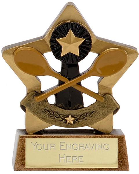 """Mini Star Wooden Spoon Trophy 8.5cm (3.25"""")"""