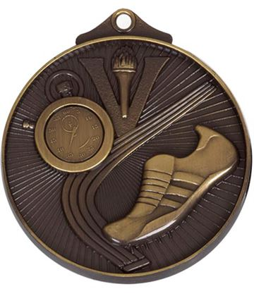 "Bronze Horizon Athletics Track Medal 52mm (2"")"