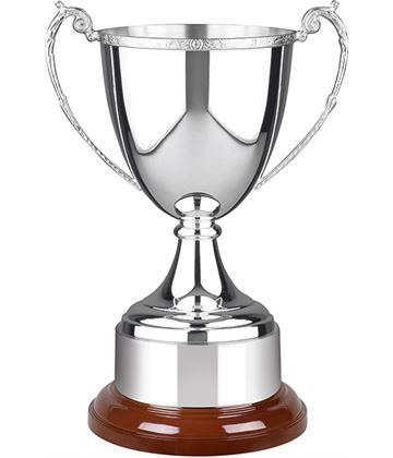 "Celtic Short Stem Silver Plated Presentation Cup 26cm (10.25"")"