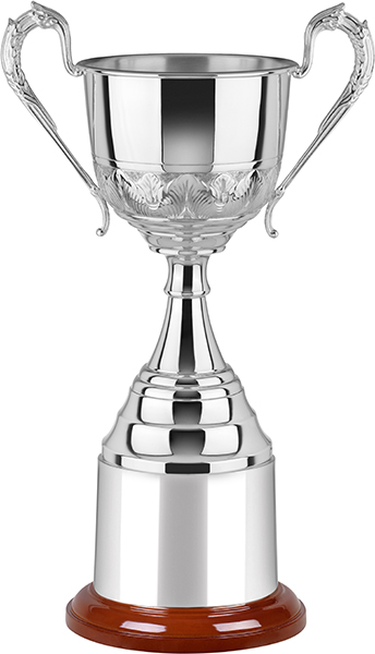 "Silver Plated Hand Chased Elegance Presentation Cup 23cm (9"")"