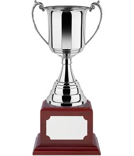 "Revolution Nickel Plated Trophy Cup on Rosewood Base 28.5cm (11.25"")"