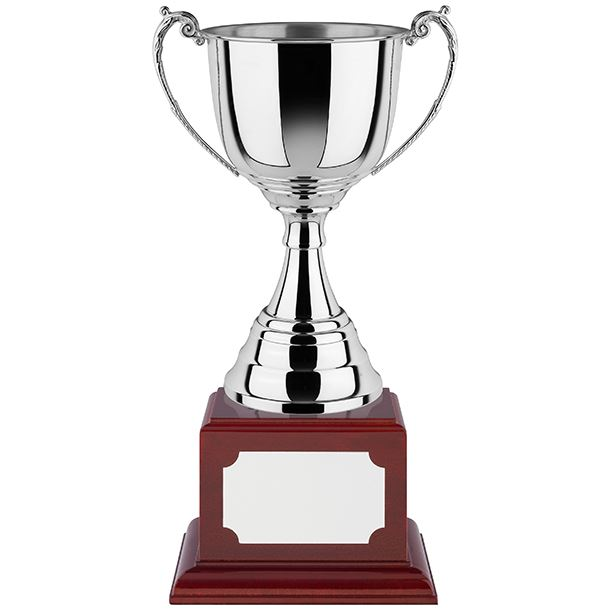 """Polished Revolution Nickel Plated Cup with Rosewood Base 40cm (15.75"""")"""
