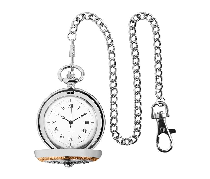 "Gold & Silver Finished Golf Themed Pocket Watch 5cm (2"")"