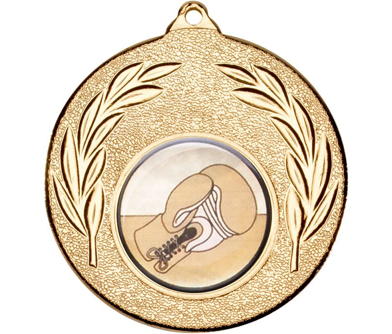 """Gold Leaf Victory Medal (2"""") with 1"""" Boxing Glove Centre"""
