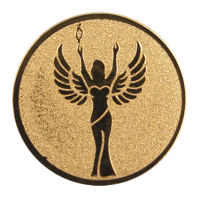 """Gold Achievement 1"""" Centre Disc"""
