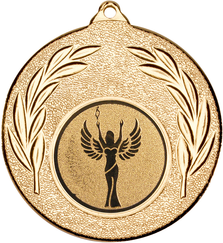 "Gold Leaf Medal with 1"" Achievement Centre Disc 50mm (2"")"