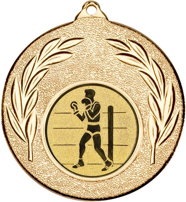 "Gold Leaf Medal 50mm (2"") with 1"" Boxing Centre Disc"