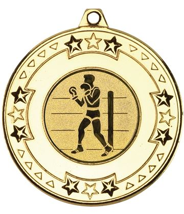 "Gold Star & Pattern Medal 50mm (2"") with 1"" Boxing Centre Disc"