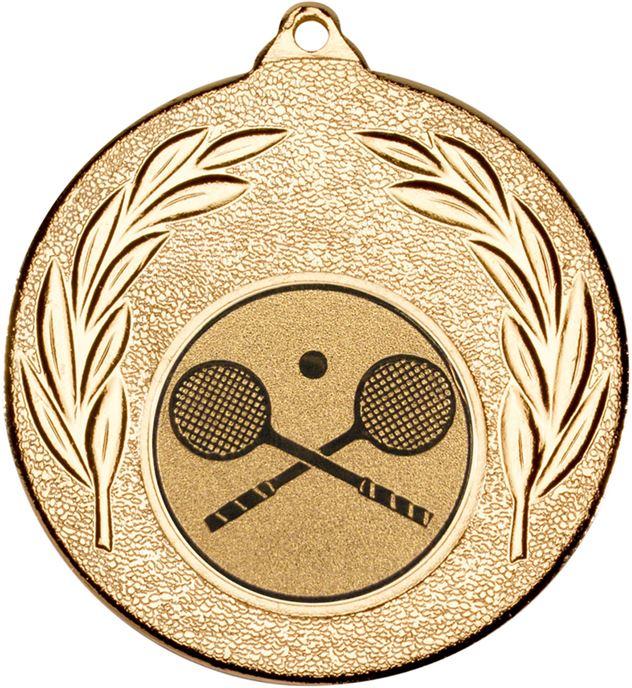 "Gold Leaf Medal with 1"" Squash Centre Disc 50mm (2"")"