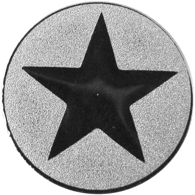 "Silver Metal Star 1"" Centre Disc"