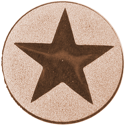 "Bronze Metal Star 1"" Centre Disc"