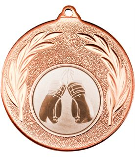 "Bronze Leaf Medal with 1"" Boxing Centre Disc 50mm (2"")"