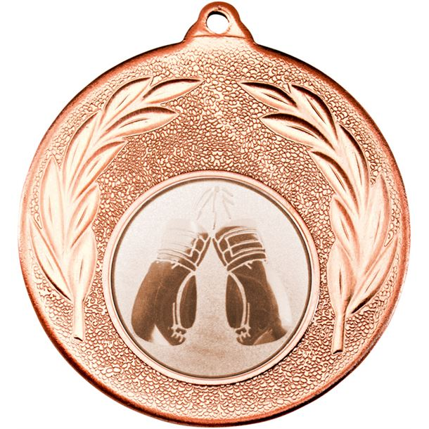 """Bronze Leaf Medal with 1"""" Boxing Centre Disc 50mm (2"""")"""