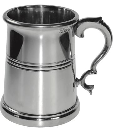 "Extra Heavy Vanguard 1pt Sheffield Pewter Tankard 12.5cm (5"")"