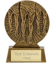 "Antique Gold Athletics Running Trophy 8.5cm (3.25"")"