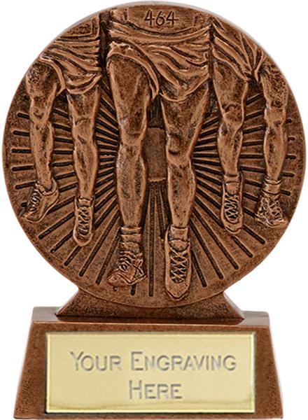 "Antique Bronze Athletics Running Trophy 8.5cm (3.25"")"